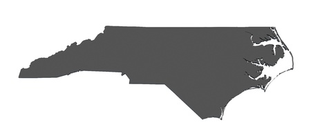 Map of North Carolina - USA - nonshaded