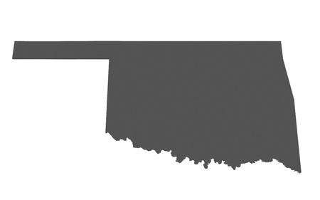 oklahoma: Map of Oklahoma - USA - nonshaded