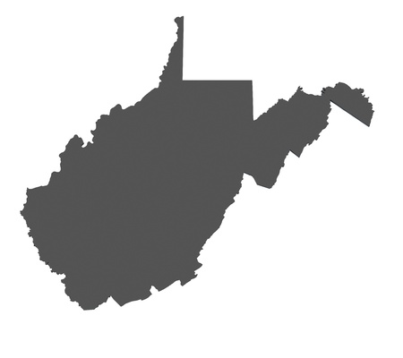 Map of West Virginia - USA - nonshaded photo