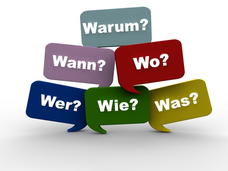 Questions - German Stock Photo - 17137689