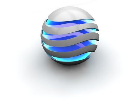 Business logo - blue