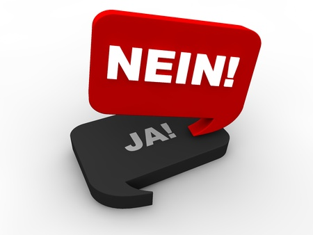 poll: Poll Result - nein Stock Photo
