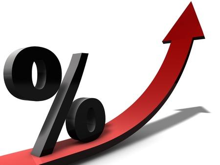 verhogen: Toenemende Percentage