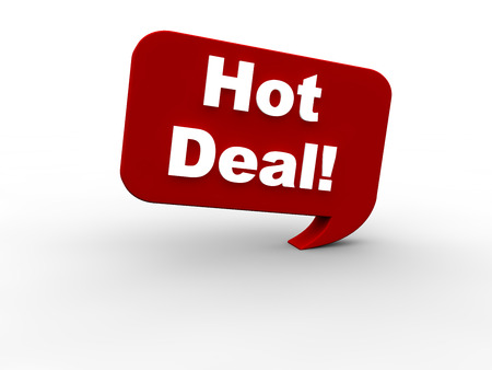 selling off: Hot Deal Stock Photo