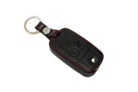 Car key isolated on white background Stock Photo