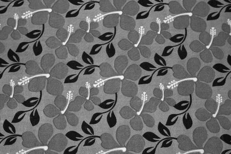 textil: Grey flowers and black leaves on a textil background