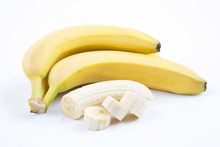 The ripe bananas with pieces Stock Photo - 24869688