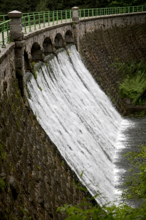 Dam on the river Lomnica in Karpacz, Poland