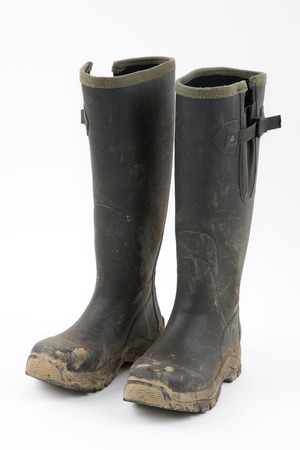 muddy clothes: Muddy wellies