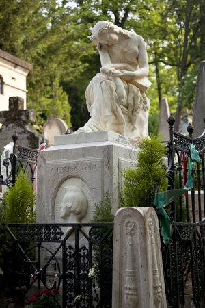 frederic chopin: Tomb of Frederic Chopin, cemetary Pere Lachaise, Paris