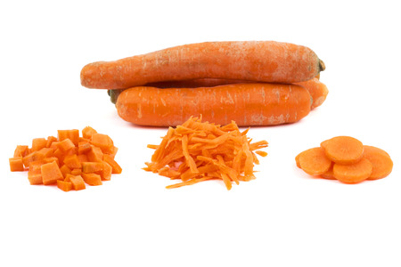 Fresh carrots with slices photo