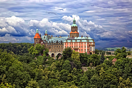 Castle Ksiaz in Walbrzych, in Poland Editorial