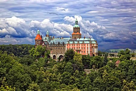 Kasteel Ksiaz in Walbrzych, Polen Redactioneel