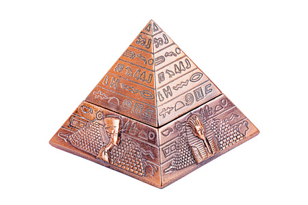 Egyptische piramide, op een witte achtergrond