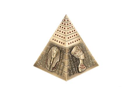 Egyptian pyramid, on a white background Editorial