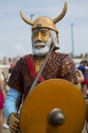 panicked: The portrait of the Viking - a wooden sculpture