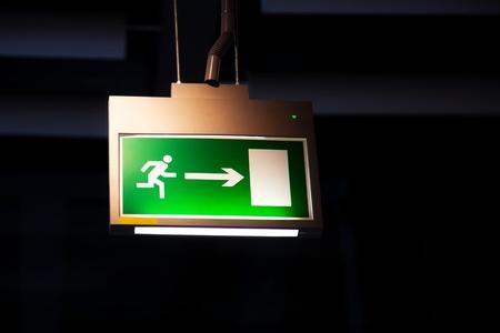 illuminated: Emergency exit, illuminated board