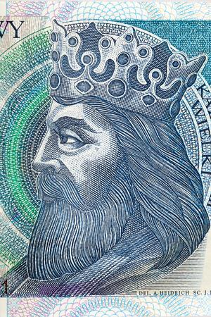 kazimierz: Kazimierz III Wielki King of Poland - portrait from money