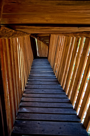 Footbridge: Wooden footbridge