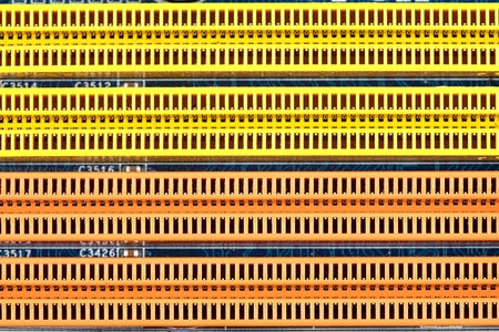 ddr: Memory slots as background or texture Stock Photo
