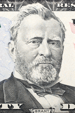 Portrait of Ulysses S. Grant on fifty dollars