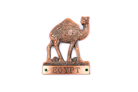 animal figurines: Camel figurine with the words egypt