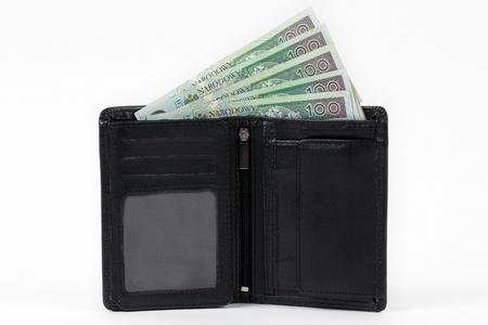 black jack: Black Jack with polish money Stock Photo