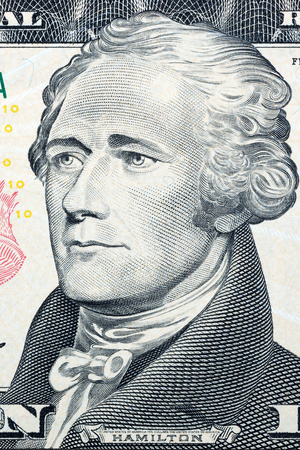 see the usa: Alexander Hamilton, the portrait on the US dollars