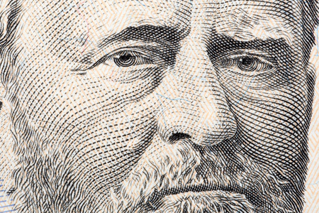 ulysses s  grant: Ulysses S. Grant, the close-up portrait on fifty US dollars