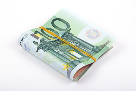 european currency: Bundle of European currency Stock Photo