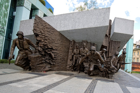 Warsaw Uprising Monument in Poland