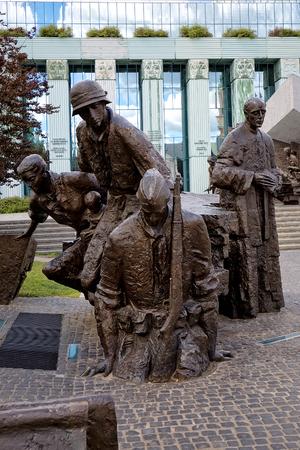 uprising: Warsaw Uprising Monument in Poland Stock Photo