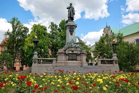 adam: Monument to the Polish poet Adam Mickiewicz in Warsaw Editorial