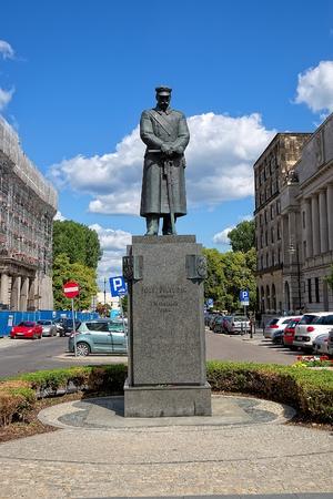 marshal: Monument to Polish Marshal Jozef Pilsudski in Warsaw Editorial
