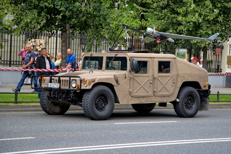 feast: Polish combat vehicle during the feast of the Polish Army in Warsaw