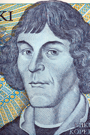 Nicolaus Copernicus portrait from old one thousand zloty
