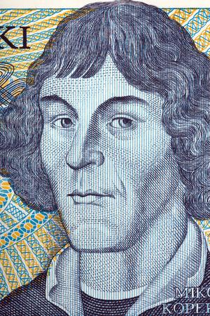 Nicolaus Copernicus portret van de oude duizend zloty