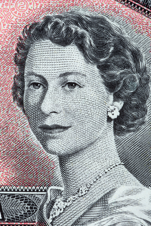 Queen Elizabeth II a portrait from old Canadian dollars