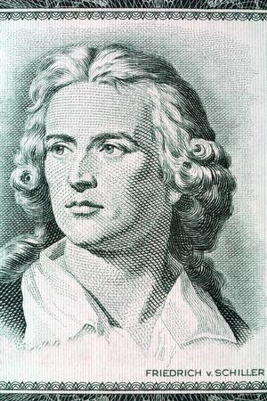 playwright: Friedrich Schiller portrait from old German money