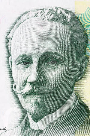 jurists: Slobodan Jovanovic portrait from Serbias money Stock Photo