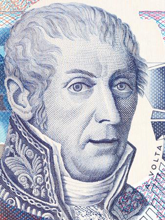 Alessandro Volta-portret van Italiaans geld