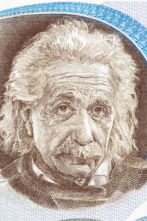 Albert Einstein portrait from Israeli money Stock Photo - 72258382