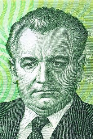 korun: Klement Gottwald portrait from old Czech money