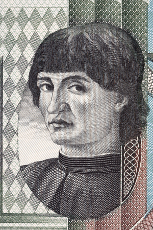 Niccolo Machiavelli-portret van Italiaans geld