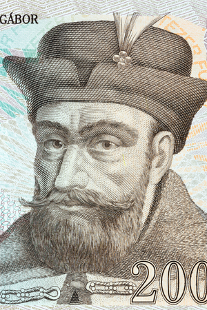 Gabriel Bethlen portrait from Hungarian money Reklamní fotografie