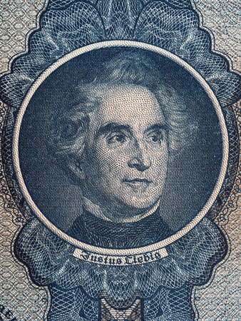 Justus von Liebig portrait from old German money Zdjęcie Seryjne