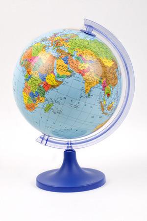 worl: Globe on a white background