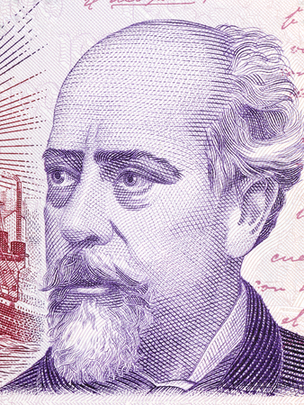 roca: Julio Argentino Roca portrait from Argentinian money Stock Photo