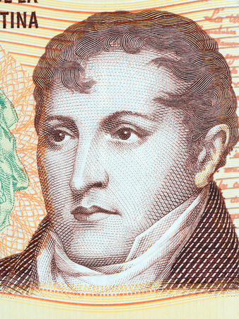 Manuel Belgrano portrait from Argentinian money