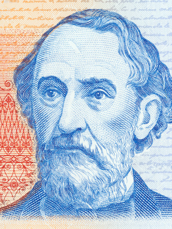 Bartolome Mitre portrait from Argentinian money Stock Photo